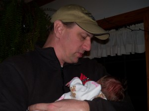 Rebecca with Daddy