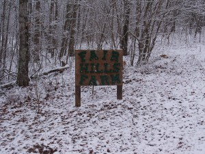 Fair Hills Farm sign.