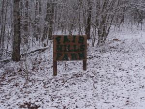 Fair Hills Farm sign.