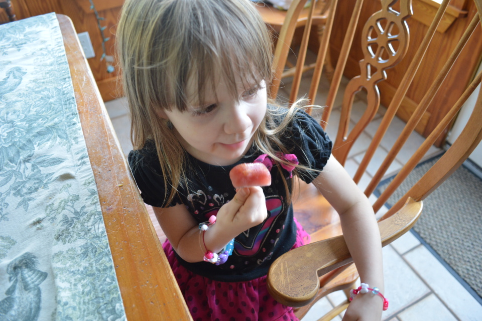 Rebecca Eating Her Popsicle